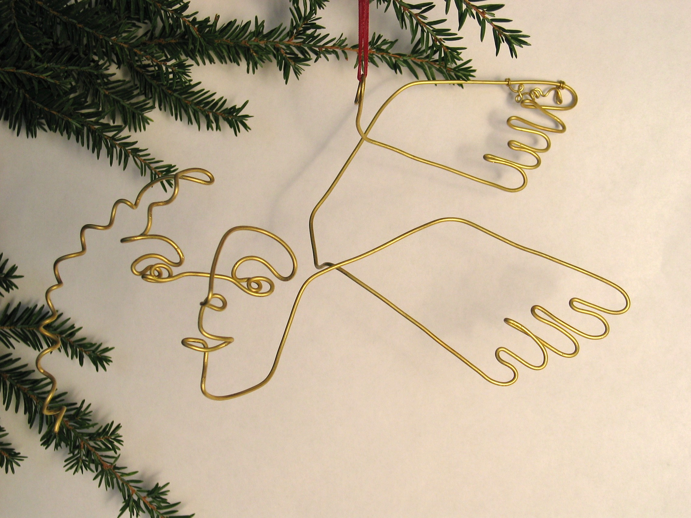 Wire Sculpture Ornaments for Christmas Holiday Decor