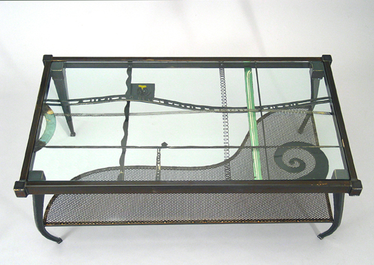 Metal Glass Coffee Tables by Lisa Fedon