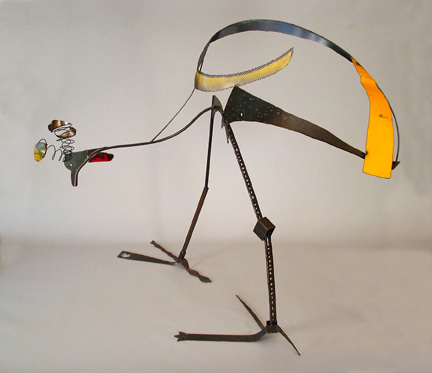 Sculpture :: Bird :: Crane :: Gruidae :: Crowned :: Aves :: Wire :: Art :: Steel :: Figurative :: Figure :: Equestrian :: Horse :: Equine :: Bronze :: Public :: Corporate :: Plaza :: Lobby :: Lisa Fedon :: Artist :: Designer